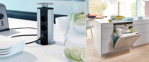 Ersatzbedarf Küchen Versenkbare Steckdosen Spülmaschine Küchenstudio Hannover H. von Roon