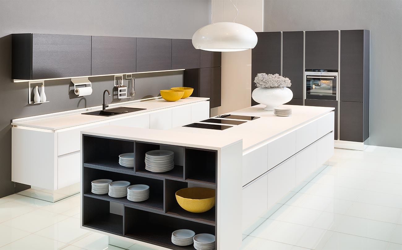 Moderne Küchen nolte Glas Tec Satin Küchenstudio Hannover
